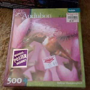 Audubon Hummingbird Puzzle